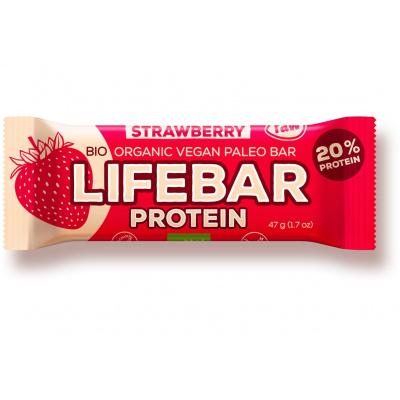 Bio tyčinka Lifebar protein jahodová 47g