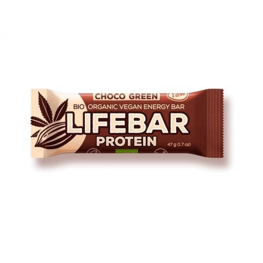 Bio tyčinka Lifebar protein čokoláda a konopný protein 47g