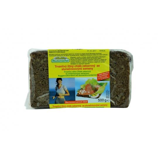 Chléb žitný celozrnný se sluneč.semeny Mestemacher 500 g