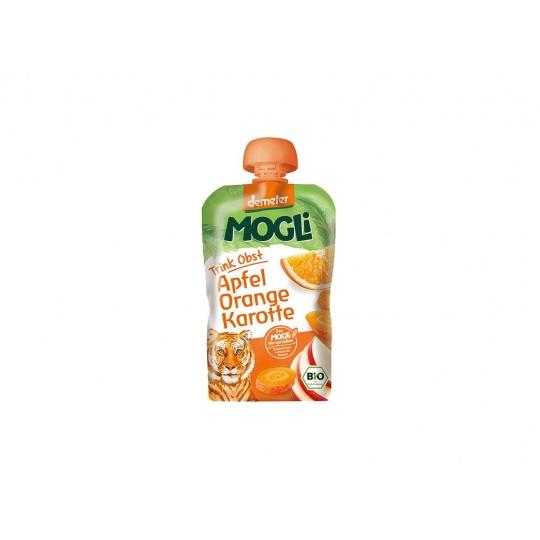 Bio Ovocné pyré Moothie jablko pomeranč mrkev bez cukru 100g