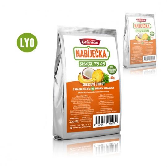 Low Carb | KETO svačinka – kokosové chipsy s lyofilizovaným ananasem a banánem 40g
