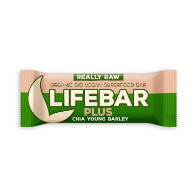 Lifebar Plus tyčinka RAW BIO 47 g - Chia Youg Barley EXP.18.07.2019