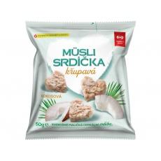 Musli srdíčka křupavá kokosová 50g