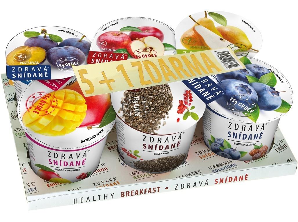 Zdravá snídaně - AKCE 5+1 ZDARMA varianta B 468g