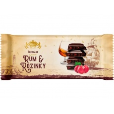 Tabulková čokoláda Rozinky a Rum 200g