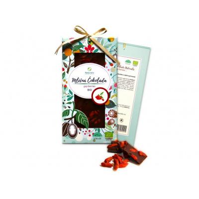 Bio čokoláda s goji berries - mléčná 80g