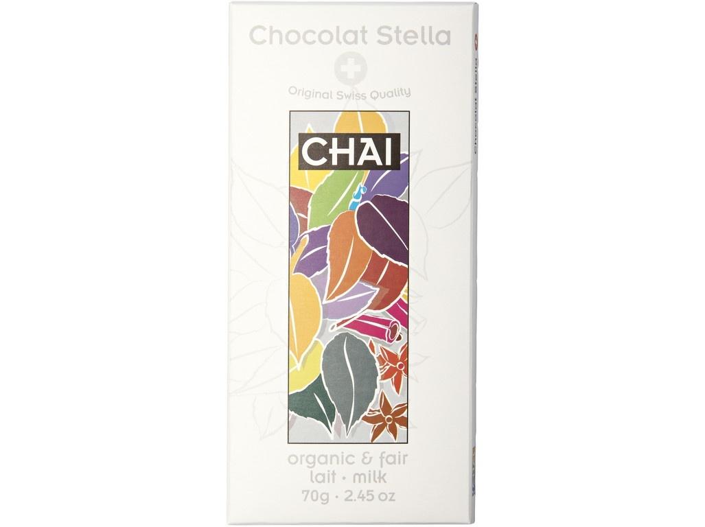 Bio mlecna cokolada caj Chai 70g