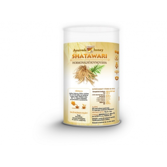 Ajurvéda med Shatawari 5x15g Tubus - hormonální rovnováha