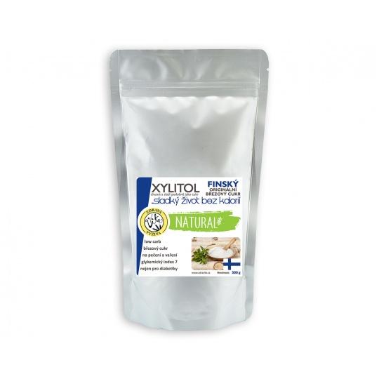 Xylitol finský   březový cukr 1000 g   Z BŘEZOVÉHO DŘEVA