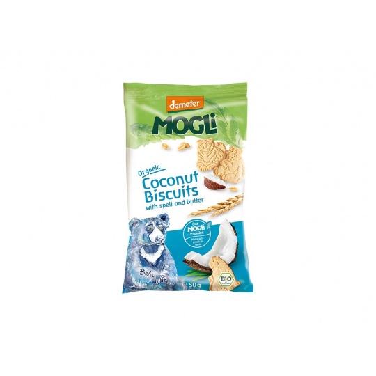 Bio Mini sušenky medvídek máslové s kokosem bez cukru 50g