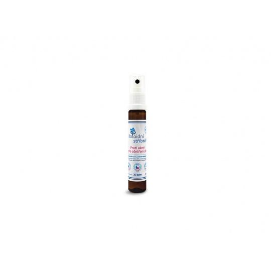 Koloidní stříbro sprej 25 ml - Proti akné 20 ppm