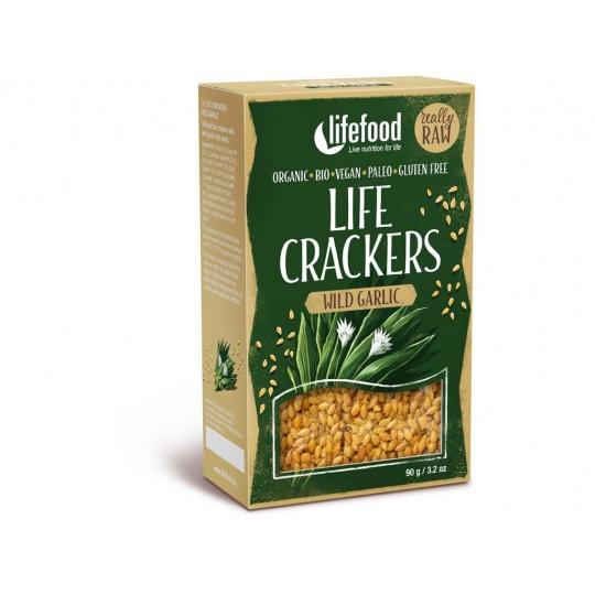 Bio Life crackers s medvědím česnekem 90g
