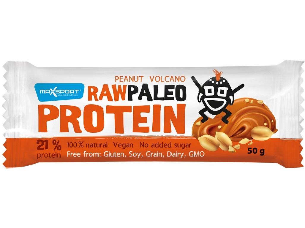 Tyčinka Raw paleo protein Peanut Volcano 50g