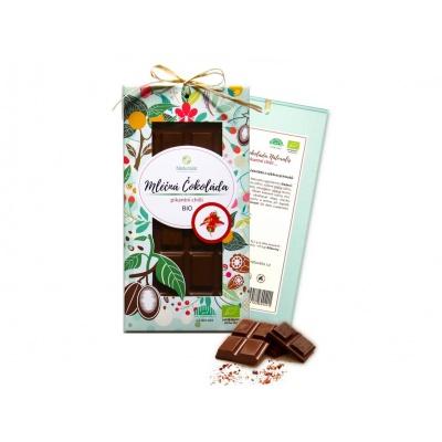Bio čokoláda s chilli - mléčná 80g