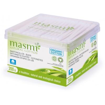 Hygienické tyčinky z organické bavlny Masmi 200ks