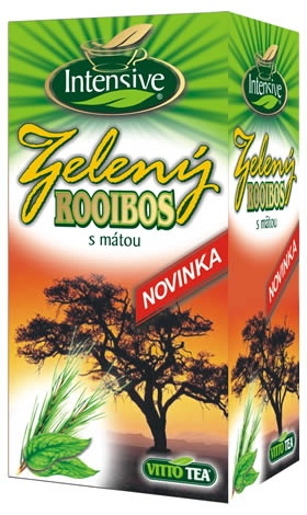 AKCE Intensive čaj Roibos zelený s mátou porcovaný 30 g
