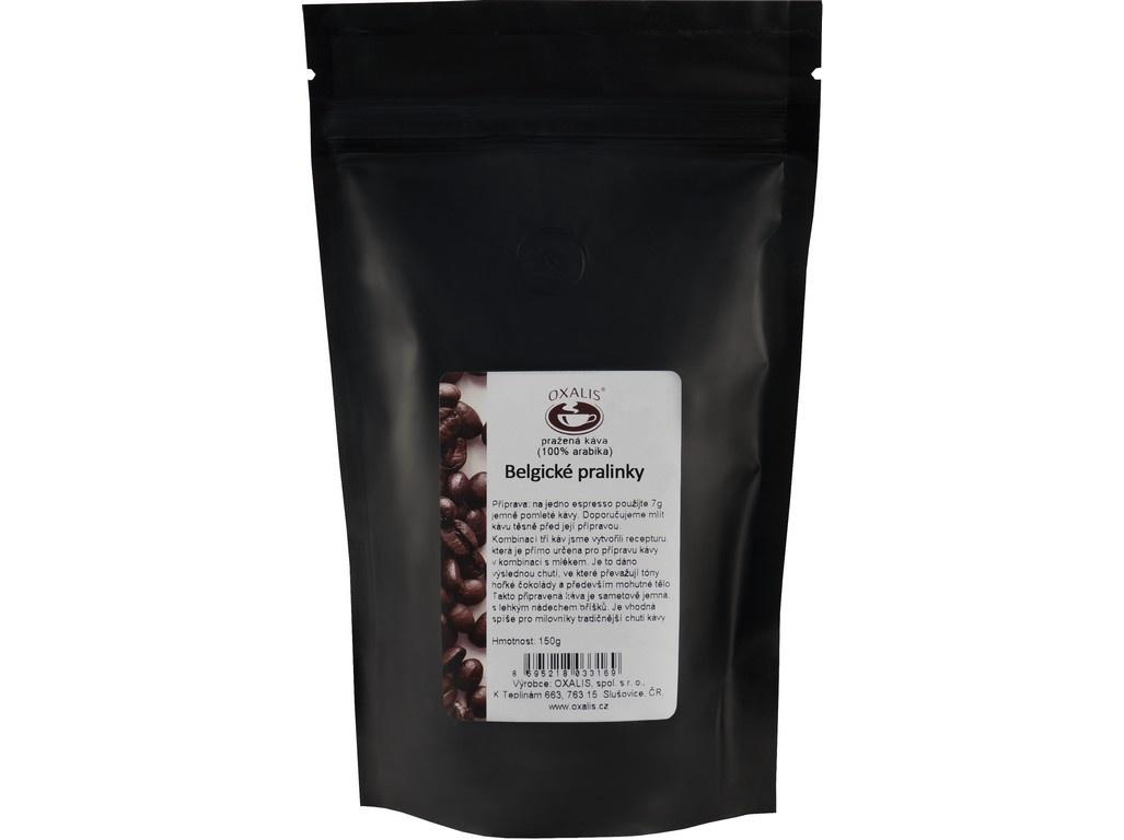 Belgické pralinky 150 g - mletá káva