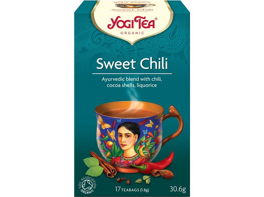 Bio Sladke chili Yogi Tea 17 x 1,8 g