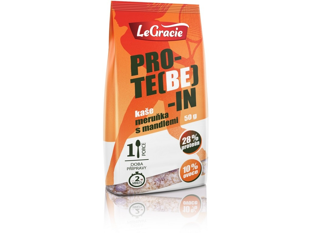 Bezlepková proteinová kaše PRO-TE(BE)-IN meruňka s mandlemi 50g