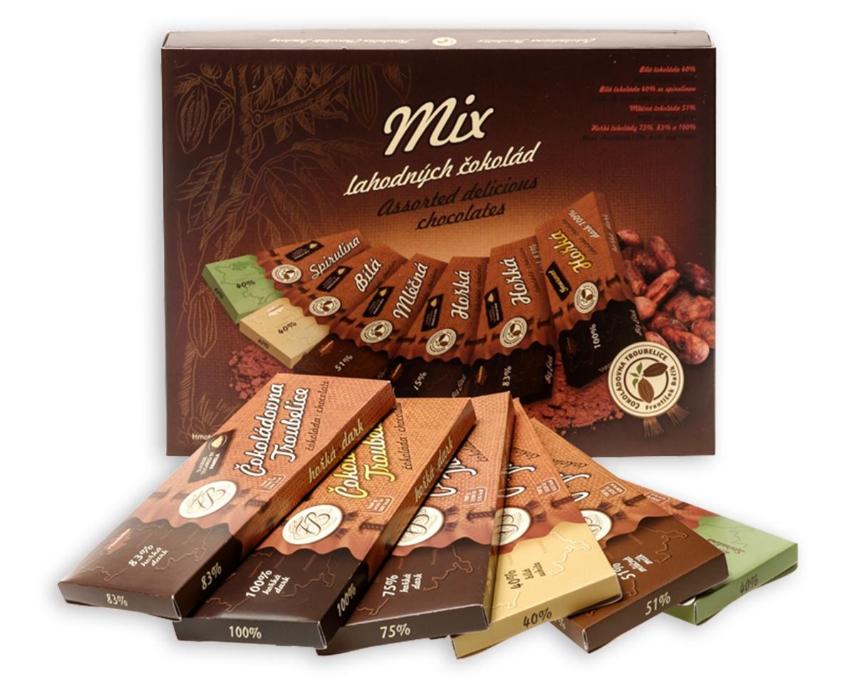 Dárková krabička čokolády 6ks MIX, 270 g