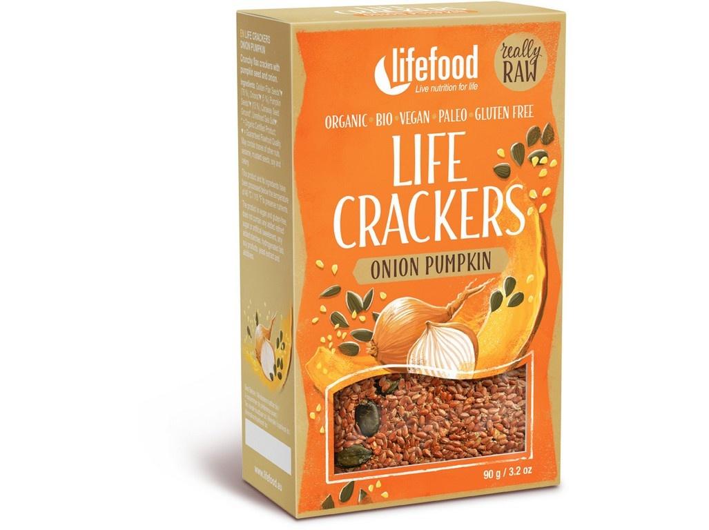 Bio Life crackers Cibulové s dýňovým semínkem 90g