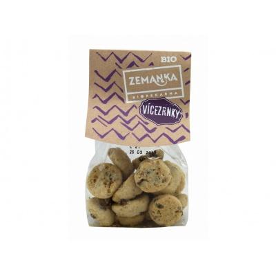 Bio Vícezrnné sušenky s čokoládou a vločkami 100 g