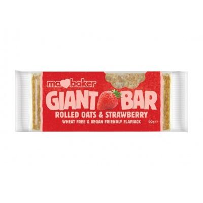 Tyčinka ovesná Giant bar Obří Jahodová 90g