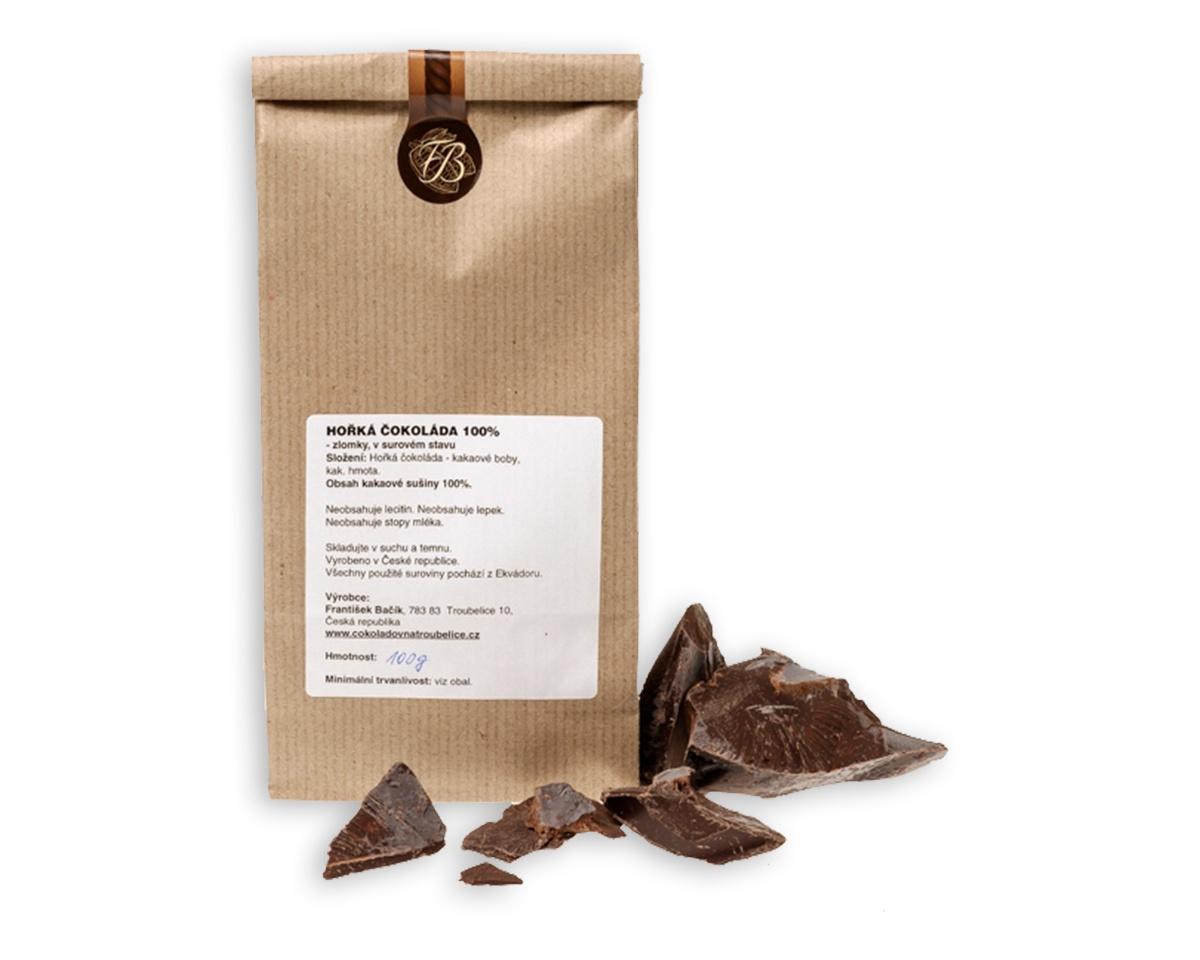 Čokoláda hořká 100% Zlomky 100 g