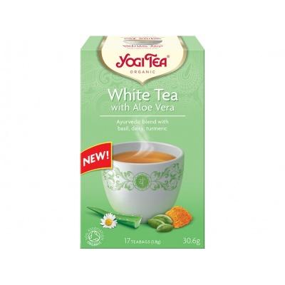 Bio Bílý s Aloe Vera Yogi Tea 17 x 1,8 g