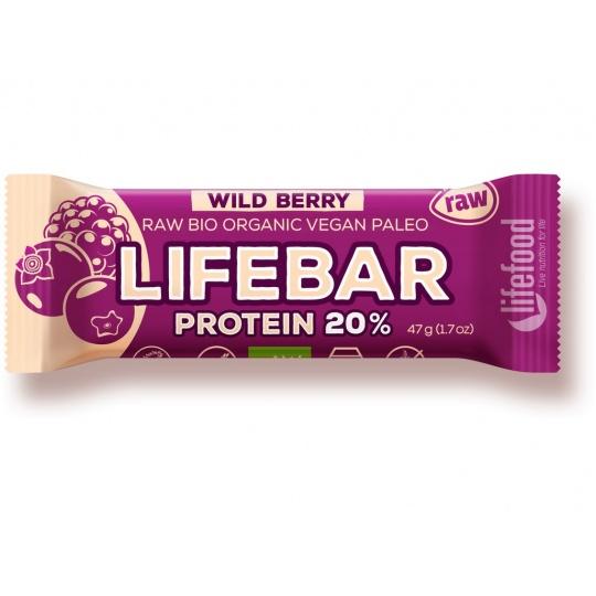 Bio tyčinka Lifebar protein Wild berry 47g