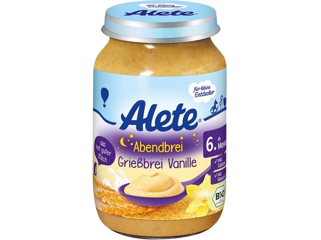 Bio kase vecerni semolinova s vanilkovou prichuti 190g