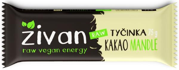 Datlová tyčinka ŽIVAN kakao a mandle RAW MEGA SIZE 75 g