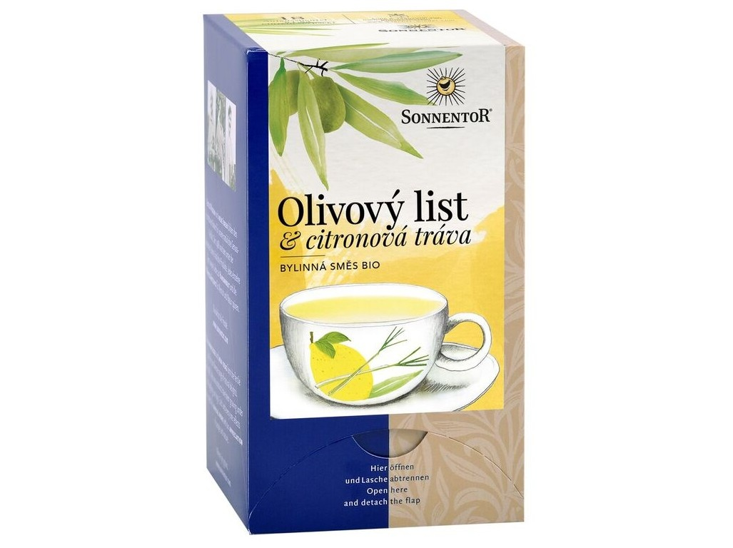 Bio Olivový list a citronová tráva porcovaný 18x1,8g