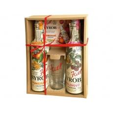 Syrob dárkové balení Malina a Pomeranč (2x500ml + sklenička)