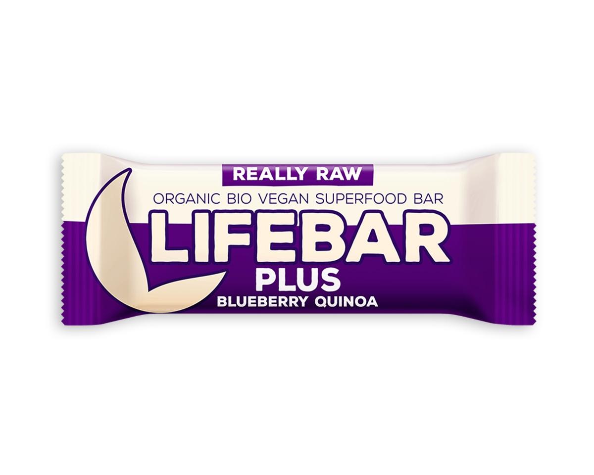 Lifebar Plus tyčinka RAW BIO 47 g -Blueberry Quinoa