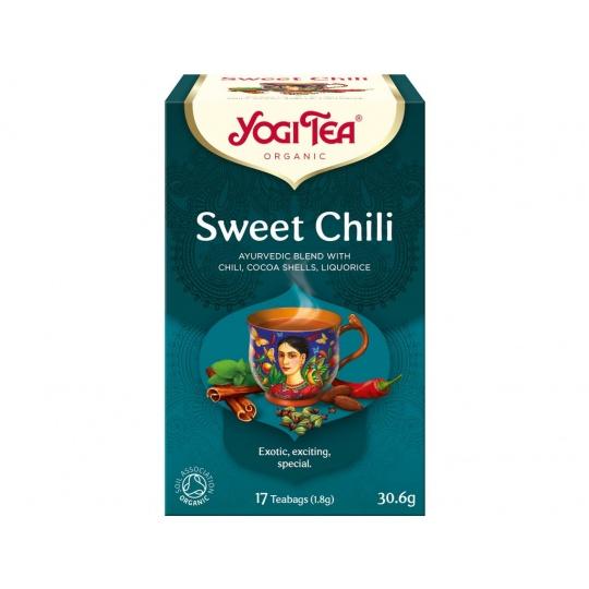 Bio Sladké chili Yogi Tea 17 x 1,8 g