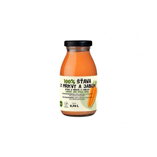 Šťáva 100% mrkvovo-jablková 0,2l