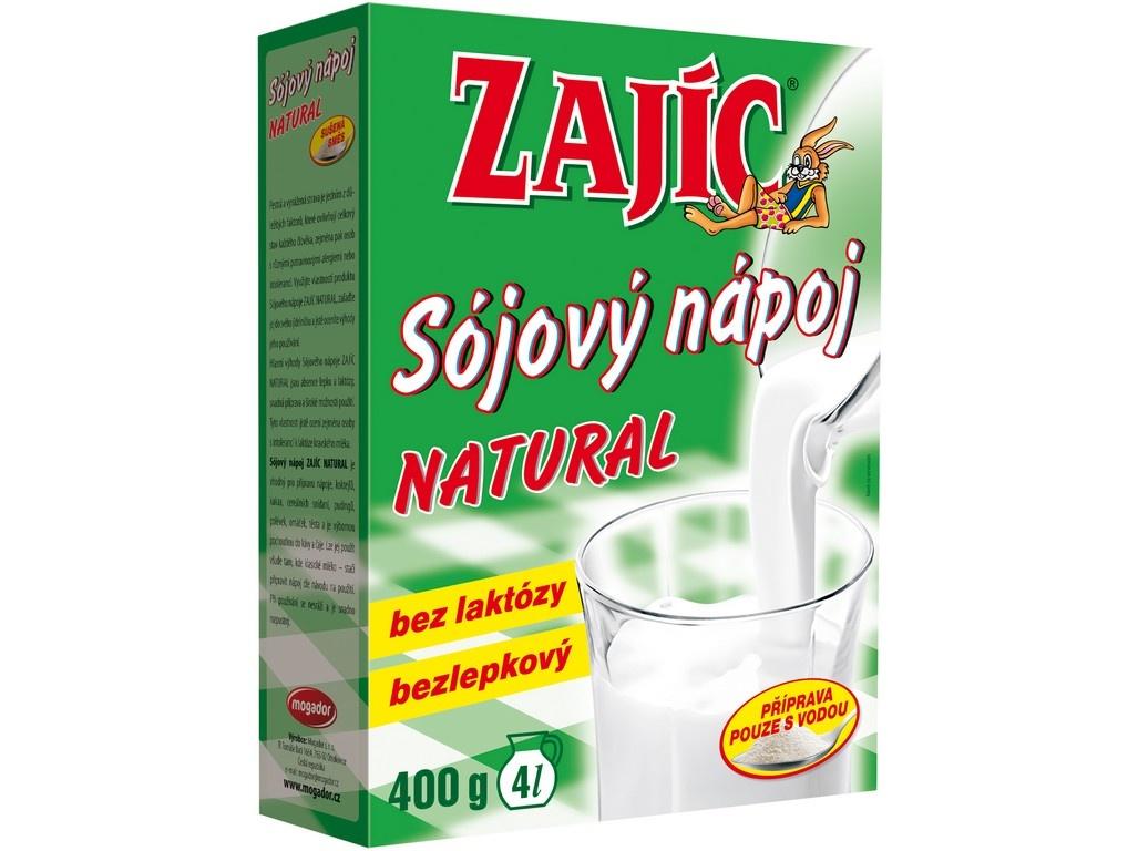 Sójový nápoj Zajíc natural 400g