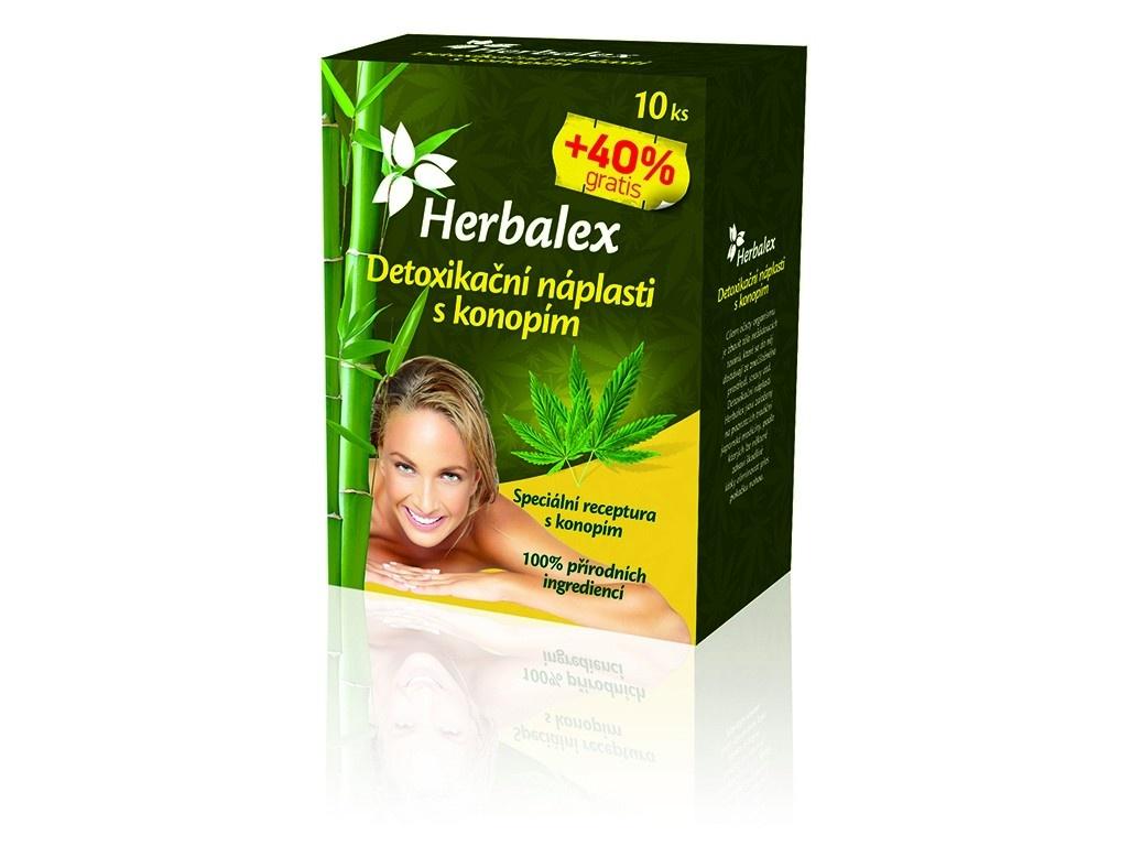 Detoxikační náplastí s konopím 10+40% GRATIS