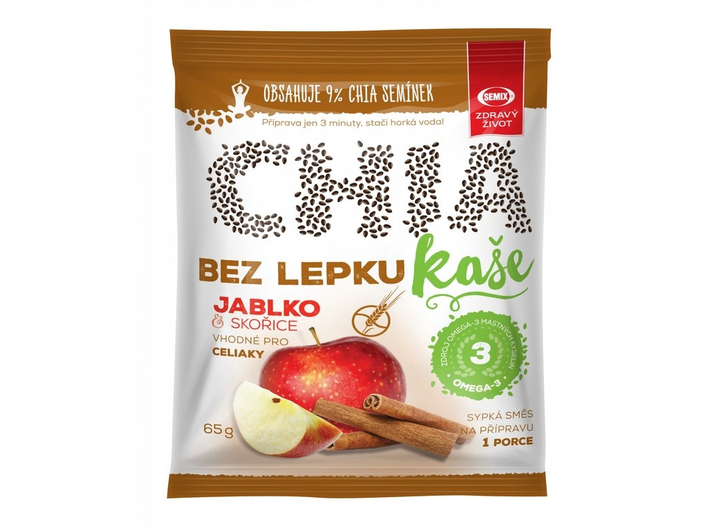 Chia kaše bez lepku jablko skořice 65g