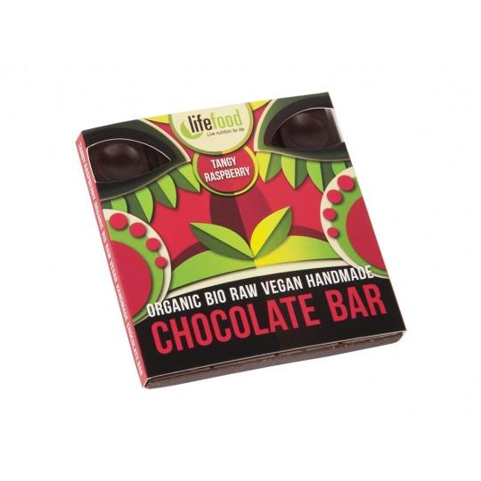 Bio čokoláda z nepraženého kakaa malinová raw 35g