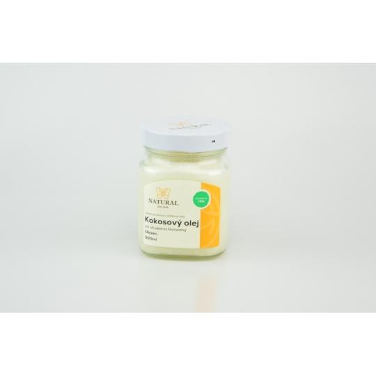 Kokosový olej za studena lisovaný - Natural 300ml