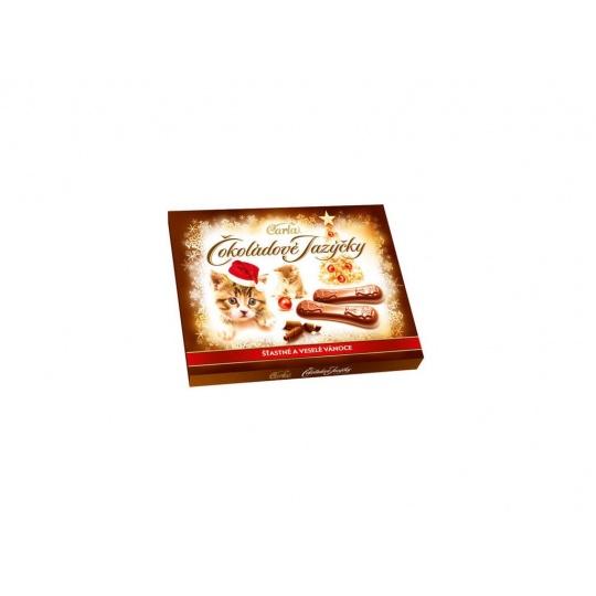 Čokoládové jazýčky mléčné - vánoce 100g