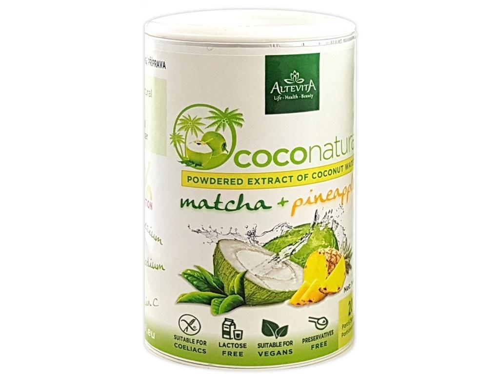 Coco natural 140g Tubus Matcha-Pineapple - instantní kokosová voda