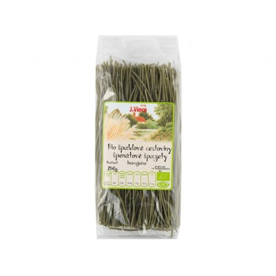 Bio Těstoviny špaldové špenátové špagety 250g