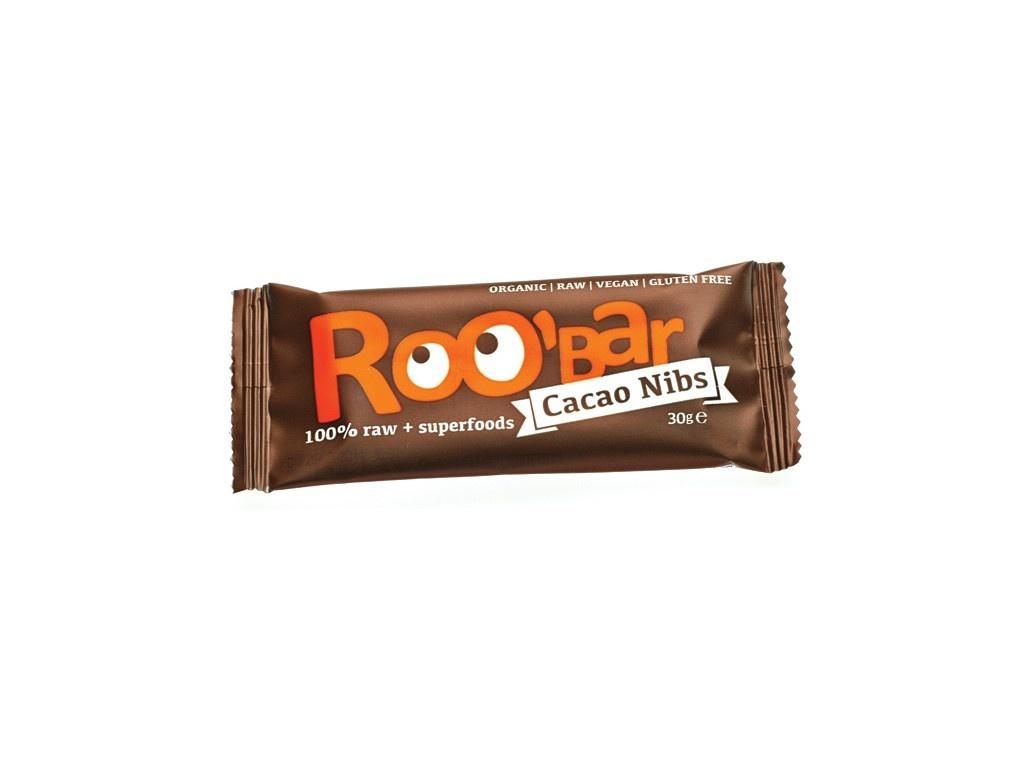 Bio tycinka Roobar Kakaova s mandlemi 30g RAW