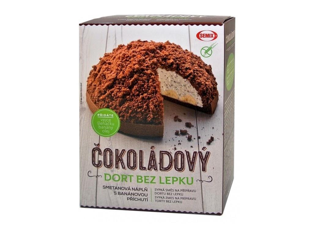 Čokoládový dort bez lepku+ náplň 430g
