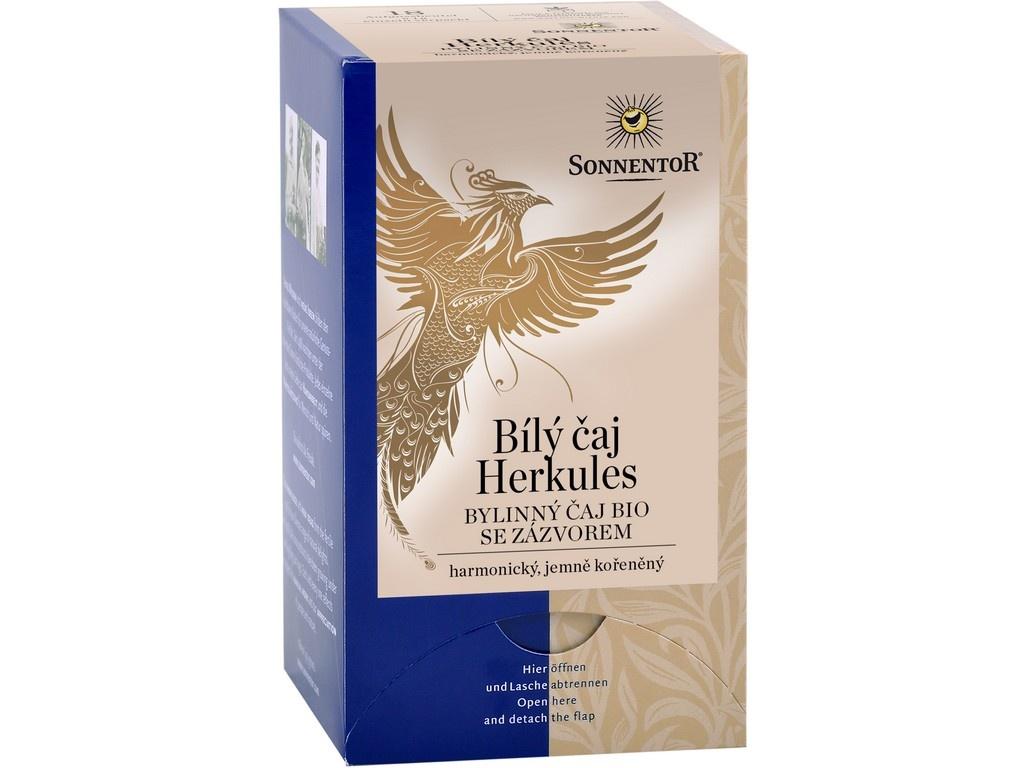 Bio Bílý čaj Herkules se zázvorem 27g