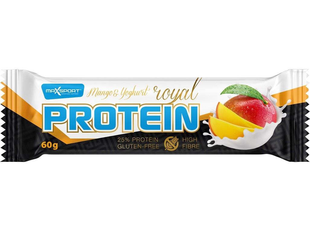 Tyčinka proteinová Royal protein Mango Yoghurt 60g, min. trv. 19.7.2019