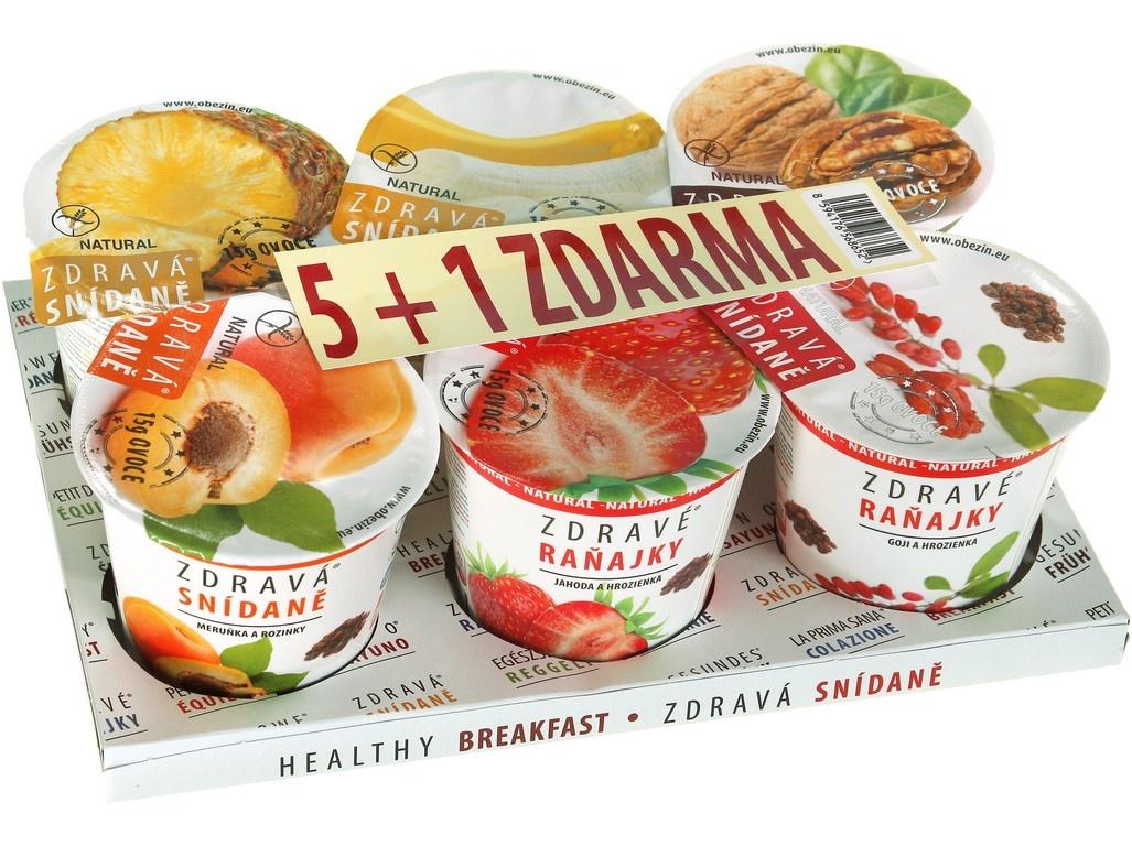 Zdravá snídaně - AKCE 5+1 ZDARMA varianta A 468g